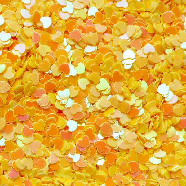 Heart Sequin / Micro Heart / Fake Toppings / Heart Glitter / Heart Sprinkles / Heart Confetti (AB Yellow / 3mm / 3g) Scrapbooking SPK54