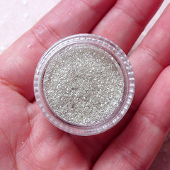 Silver Glitter Roots Powder / Ultra Fine Sprinkles / Fairy Glitter (3g) Sparkle Hair Decoration Craft Nail Art Nail Deco Nail Decoration SPK57