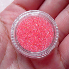 Fake Toppings Microbead Faux Sugar Sprinkles Caviar Beads (AB Light Pink / 7g) Miniature Sweets Nail Decoration Mixed Media Scrapbook SPK29