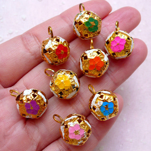 Bell Enamel Charms (8pcs / 3D / 12mm x 16mm / Colorful Mix) Bracelet Keychain Key Ring Zipper Pulls Bookmark Wine Glass Charm DIY CHM1525