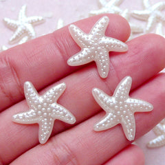Star Fish Starfish Pearl / ABS Faux Pearls (Cream White / 19mm / Around 25pcs) Sea Ocean Scrapbooking Embellishment Wedding Decoration PES74