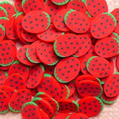 Kawaii Fruit Cane Strawberry Polymer Clay Cane (Cane or Slices) Miniature Sweets Jewelry Fimo Food Craft Cute Nail Art Embellishment CF031