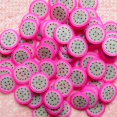 Dragon Fruit Polymer Clay Cane Pitaya Fimo Cane (Cane or Slices) Dollhouse Fruit Jewellery Kawaii Craft Miniature Food Making Nailart CF016