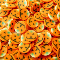 Polymer Clay Cane Halloween Pumpkin Cane Nail Art Deco Scrapbooking Food Fimo Cane Miniature Faux Cupcake Topper Jewelry Stud Earrings CE031