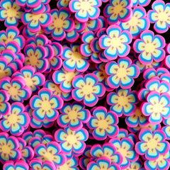 Purple Pink Flower Polymer Clay Cane Flower Fimo Cane Fake Miniature Sweet Decoration Nail Art Nail Deco Scrapbooking Earrings Making CFW064