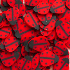 Polymer Clay Cane - Red Beetle / Lady Bug - for Miniature Food / Dessert / Cake / Ice Cream Sundae Decoration and Nail Art CIN02