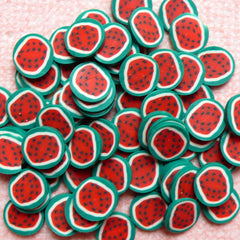 Watermelon Cane Dollhouse Fruit Polymer Clay Cane (Cane or Slices) Miniature Food Jewellery Fimo Nailart Decoden Supplies Scrapbook CF026