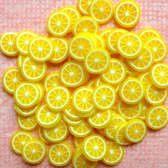Miniature Lemon Cane Dollhouse Fruit Polymer Clay Cane (Cane or Slices) Fimo Fruit Toppings Kawaii Nail Decoration Cupcake Jewelry CF003