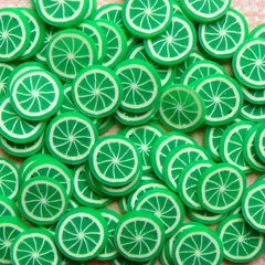 Miniature Lime Fimo Cane Citrus Fruit Polymer Clay Cane (Cane or Slices) Miniature Sweets Dollhouse Food Craft Fake Cupcake Toppings CF011