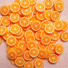 Miniature Orange Cane Dollhouse Fruit Fimo Cane (Cane or Slices) Polymer Clay Cupcake Making Kawaii Decoden Supplies Nail Decoration CF001