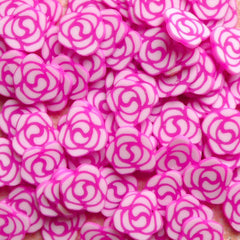 Polymer Clay Cane - Purple Pink Rose / Flower - for Miniature Food / Dessert / Cake / Ice Cream Sundae Decoration and Nail Art CFW066
