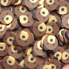 Polymer Clay Cane - Animal - Brown Bear - for Miniature Food / Dessert / Cake / Ice Cream Sundae Decoration and Nail Art CAN029