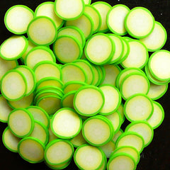 Cucumber Polymer Clay Cane Vegetable Fimo Cane for Miniature Food / Dessert / Cake / Ice Cream Decoration and Nail Art CFD07