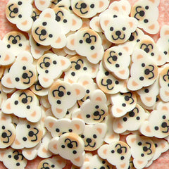 Polymer Clay Cane - Bear Face (White) - for Miniature Food / Dessert / Cake / Ice Cream Sundae Decoration and Nail Art CAN028