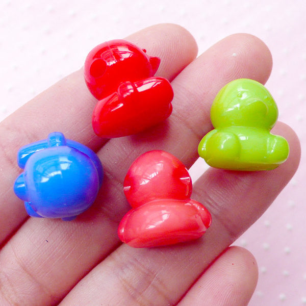 Cute Animal Jewelry Kawaii Plastic Bead Bubblegum Necklace Back To Search Resultsjewelry & Accessories Beads & Jewelry Making Buy Cheap 20pcs Acrylic Rabbit Beads 3d Bunny Charms 16mm X 16mm Mix Color