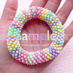 Flower Daisy Acrylic Beads Spacers Rondelles (16mm / Assorted Pastel Color / 25pcs) Kawaii Decora Bracelet Fairy Kei Chunky Necklace CHM2095