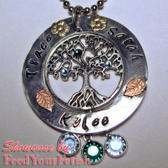 Tree of Life Charms (4pcs) (25mm x 29mm / Tibetan Silver) Tree Charm Metal Findings Pendant Bracelet Earrings Zipper Pulls Keychains CHM346