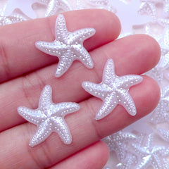 Sea Star Fish Starfish Pearl / ABS Fake Pearls (White / 19mm / Around 25pcs) Nautical Embellishment Beach Scrapbooking Card Making PES86