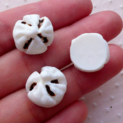 Miniature Steamed Pork Bun / Dollhouse Char Siew Pow / Chinese Dim Sum Cabochons (3pcs / 16mm / Flat Back) Kawaii Oriental Food FCAB327