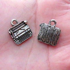 Typewriter Charm Antique Vintage Typing Machine (6pcs / 14mm x 16mm / Tibetan Silver) Writers Librarians Teachers Reporter Newspaper CHM2128