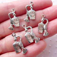 Perfume Charms Cologne Parfum Eau de Toilette Pendant (5pcs / 11mm x 20mm / Tibetan Silver / 2 Sided) Lady Charm Bracelet Necklace CHM2137