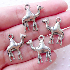 Dromedary Camel Charms One Humped Camel Pendant (4pcs / 19mm x 22mm / Tibetan Silver / 2 Sided) Desert Novelty Jewelry Baby Shower CHM2207