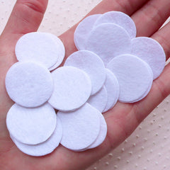1 inch Felt Circle / 25mm Felt Circle / 2.5cm Felt Circle (25pcs / White) Round Appliques Hair Bows Headbands Fabric Flower Backing F319