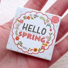 Spring Sticker / Season Sticker (45pcs) Gift Bag Seal Label Home Decor Spring Scrapbook Collage Diary Decoration Journal Planner Deco S307