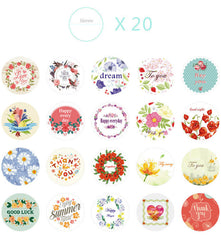 Assorted Sticker / Happy Every Day I Love You Thank You For You Sticker (38pcs) Product Packaging Favor Decoration Gift Bag Sticker S312