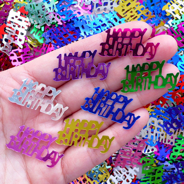 Happy Birthday Confetti / Party Sequin (Colorful Mix / 29mm x 14mm / 7g) Party Decoration Table Scatter Card Making Embellishment SPK103