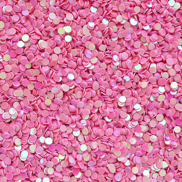 Mini Round Confetti / Tiny Dot Sequin / Small Circle Sprinkles (2mm / AB Pink / 6g) DIY Resin Cabochon Nail Art Card Embellisgment SPK105