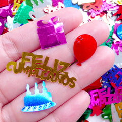 Birthday Party Confetti / Happy Birthday Sequin (Colorful Mix / 12mm to 35mm / 7g) Feliz Cumpleanos Balloon Gift Box Card Decoration SPK110