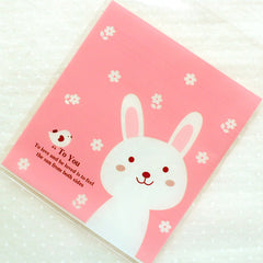Cute Rabbit Plastic Bags / Kawaii Self Adhesive Cello Bags / Animal Gift Bags (10cm x 11cm / 20 pcs / Pink) Etsy Packing Supplies GB137