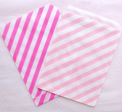 Assorted Paper Bags / Treat Bags / Favor Bags / Bakery Bags / Gift Bag (13cm x 17cm / 11pcs / STRIPE / Colorful Mix) Packaging Supplies S316