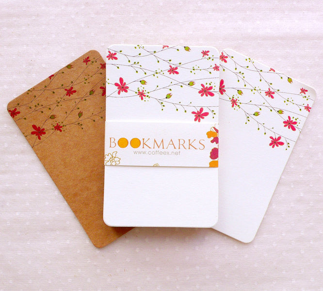 floral note card rounded corner card with flower pattern 24pcs 54cm x