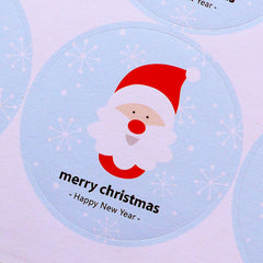 CLEARANCE Santa Claus Stickers / Merry Christmas and Happy New Year Sticker (12pcs) Christmas Party Supplies Card Making Decoration Embellishment S326