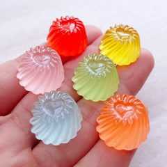 Miniature Jelly Pudding Cabochons / Dollhouse Gelatin (6pcs / 17mm x 10mm / Assorted Mix / Flatback) Sweets Deco Kawaii Phone Case FCAB431