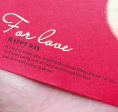 "Mini Love Letter Envelopes / Small Wedding Invitation Card Envelope (10pcs / 9.7cm x 7.4cm / 3.81"" x 2.91"" / Red) Valentines Day S331"