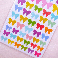 DEFECT Colorful Ribbon Stickers (6 Sheet / 300pcs) Kawaii Diary Deco Sticker Card Making Cute Scrapbook Embellishment Seal Stickers S344