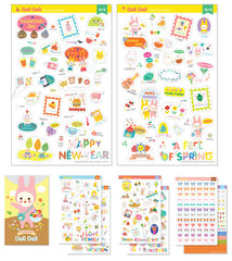 Deli Deli More More Sticker / Journal Deco Stickers / Clear Sticker (8 Sheets / Season Christmas) Kawaii Filofax Erin Condren Planner S387