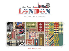Welcome To London Stickers / Journal Diary Organizer Filofax Planner Sticker (3 Sheets) Travel England United Kindgom UK Photo Sticker S411