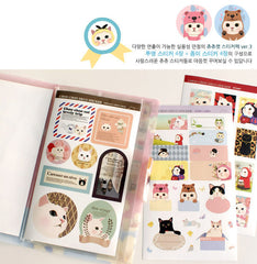 Choo Choo Cat Sticker Pack / Cute Deco Stickers / Journal Life Planner Filofax Organizer Sticker (8 Sheets) Kawaii Erin Condren Sticker S413