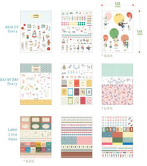 Diary Deco Pack Version 2 by Iconic (9 Sheets) Kawaii Erin Condren Note Message Sticker Masking Sticker Filofax Planner Embellishment S418