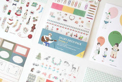 CLEARANCE Diary Deco Pack Version 2 by Iconic (9 Sheets) Kawaii Erin Condren Note Message Sticker Masking Sticker Filofax Planner Embellishment S418