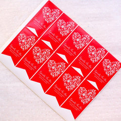 Especially For You Flag Stickers with Filigree Heart Pattern (2 Sheets / 20pcs) Etsy Product Wrapping Gift Favor Packaging Supplies S430