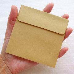 "Kraft Square Envelopes / Small Announcement Envelope (10pcs / 10cm x 10cm / 3.93"" x 3.93"" / Brown) Invitations Packing Mailing Supplies S440"