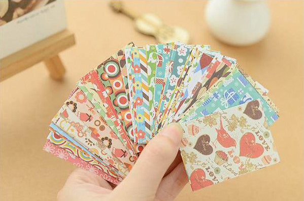 Assorted Retro Label Sticker Mix (52pcs) Home Decor Card Embellishment Collage Diary Journal Filofax Planner Scrapbook Party Supplies S448