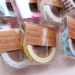 Fabric Deco Tape / Kawaii Tapes (1.5cm x 5 meters / 1 pc BY RANDOM) Scrapbook Card Making Home Decoration Party Supplies Embellishment WR13