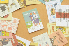 Retro Ads / Retro Adverts / Vintage Advertising Art / Antique Advertisements Posters Label Stickers (52pcs) Scrapbooking Collage Decor S449