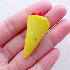 CLEARANCE Doll Food Cabochon / Mini Ice Cream Crepe Cone Cabochon (Original / 19mm x 39mm) Dollhouse Miniature Dessert Fake Sweets Jewelry FCAB469